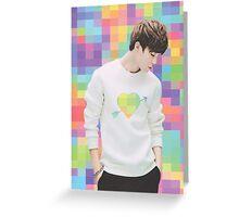 Park Jimin - Pixel Heart Greeting Card