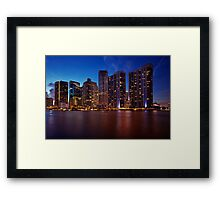 Miami Skyline Framed Print