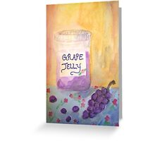 Grape Jelly Greeting Card