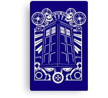 TARDIS Gallifreyan Tee funny nerd geek geeky Canvas Print