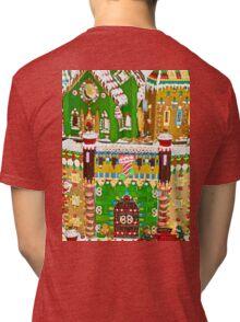 Gingerbread Village Study 2  Tri-blend T-Shirt