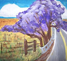 Jacaranda Tree--Upcountry, Maui  by Kate Delancel Schultz