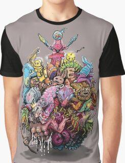 Monster Art Ball Graphic T-Shirt