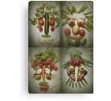 Vegetable Quartet Canvas Print