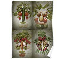 Vegetable Quartet Poster