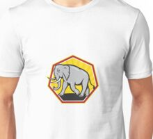 Angry Elephant Walking Cartoon Unisex T-Shirt