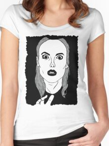 Britta sees everything Women's Fitted Scoop T-Shirt