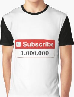 YouTube 1 Million Subscribers Graphic T-Shirt