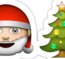 Santa/Christmas Tree Sticker