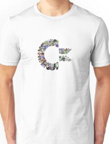 C64 Characters clear bg Unisex T-Shirt