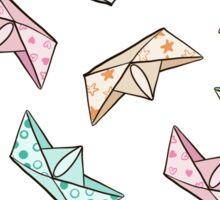 Paper boats Sticker