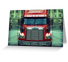 Coca Cola Truck Greeting Card