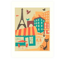 Paris Cafe Art Print