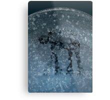 Snow globe walker Metal Print