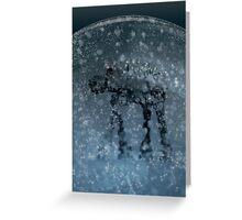 Snow globe walker Greeting Card