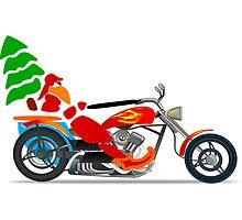 Biker Santa by boogeyman