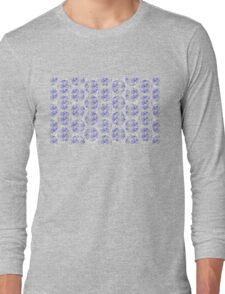 Bike Blue Polka Dot (Small) Long Sleeve T-Shirt
