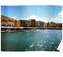 Ancient Harbour in Chania, Greece Poster