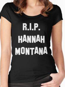 MY R.I.P. Hannah Montana Shirt! Women's Fitted Scoop T-Shirt