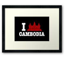 I Angkor (Love) Cambodia Framed Print