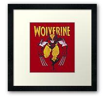 Wolverine Retro Comic Maroon Framed Print