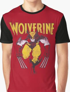 Wolverine Retro Comic Maroon Graphic T-Shirt