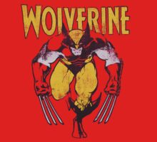 Wolverine Retro Comic Maroon One Piece - Long Sleeve