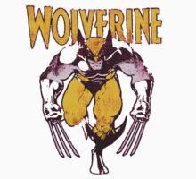 Wolverine Retro Comic Maroon Kids Tee
