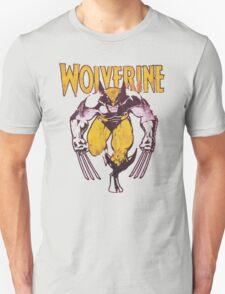 Wolverine Retro Comic Maroon Unisex T-Shirt