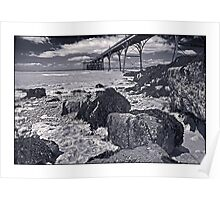 The pier at Clevedon by Tim Constable Poster