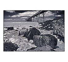 The pier at Clevedon by Tim Constable Photographic Print