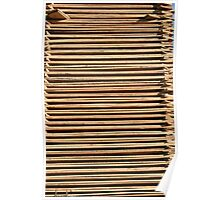 Thin Stacked Boards Poster
