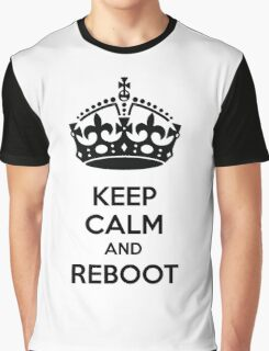Keep Calm and Reboot Graphic T-Shirt