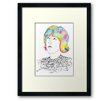 colors in his hair Framed Print