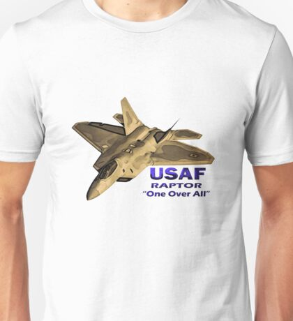 """US Air Force Raptor """"One Over All"""" Unisex T-Shirt"""
