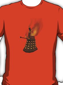 Dr Who Classic Dalek in Flames T-Shirt