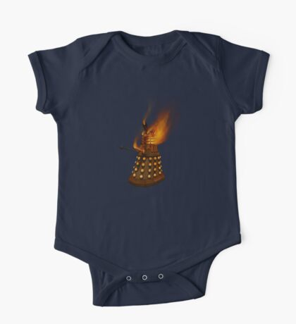 Dr Who Classic Dalek in Flames One Piece - Short Sleeve