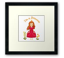Little girl Princess Framed Print