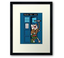 Adventure Time Lord Generation 10 - TARDIS Framed Print