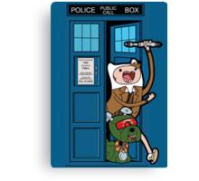 Adventure Time Lord Generation 10 - TARDIS Canvas Print