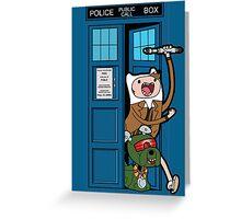 Adventure Time Lord Generation 10 - TARDIS Greeting Card