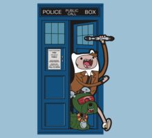 Adventure Time Lord Generation 10 - TARDIS Baby Tee