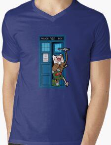 Adventure Time Lord Generation 10 - TARDIS Mens V-Neck T-Shirt