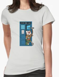 Adventure Time Lord Generation 10 - TARDIS Womens Fitted T-Shirt
