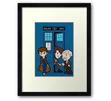The Doctor's 50th Framed Print