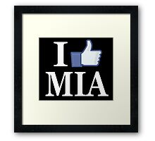 I Like MIAMI - I Love MIAMI - MIA Framed Print