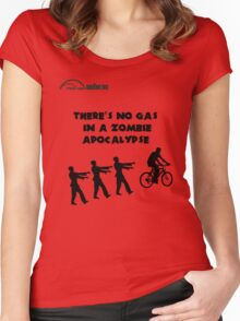 Cycling T Shirt - There's No Gas in a Zombie Apocalypse Women's Fitted Scoop T-Shirt