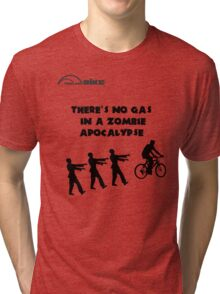 Cycling T Shirt - There's No Gas in a Zombie Apocalypse Tri-blend T-Shirt