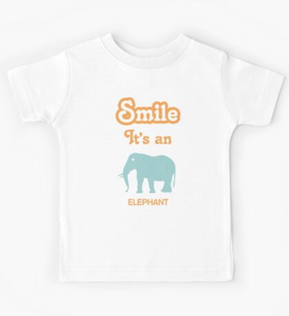Smile it's an ELEPHANT Children's Clothing Kids Tee