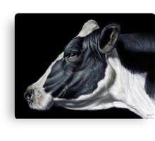 Holstein Friesian Dairy Cow Portrait Canvas Print